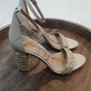 Sam Edelman | NWT Yoana Gold Woven Heeled Sandals
